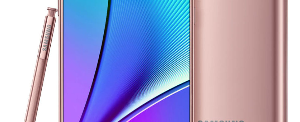 Pink Gold Galaxy Note 5