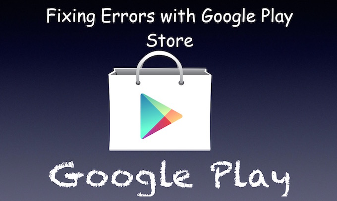 Google Play Error Solution or fixes