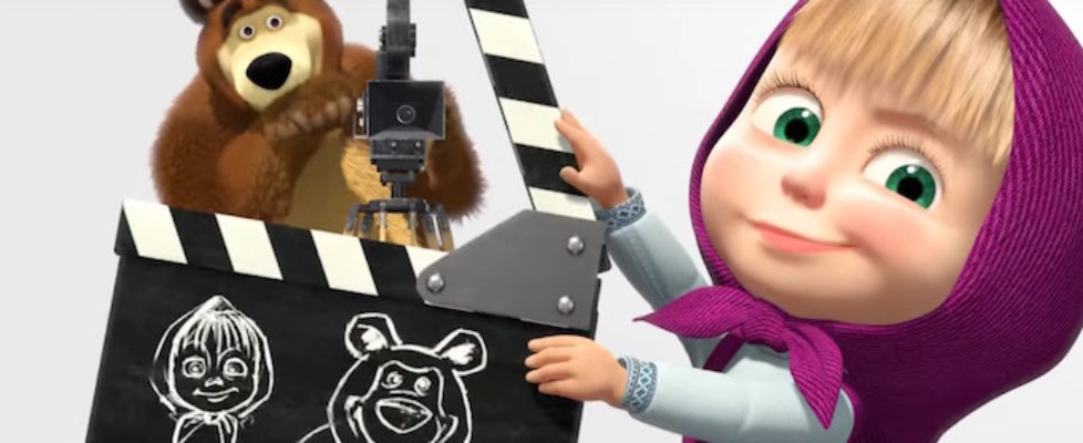 Masha and the Bear Video English Russian