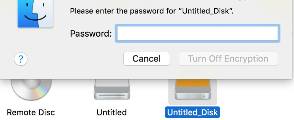 Decrypt USB HDD on Mac