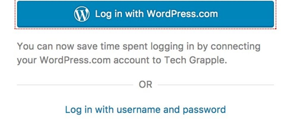 Log in with wordpress